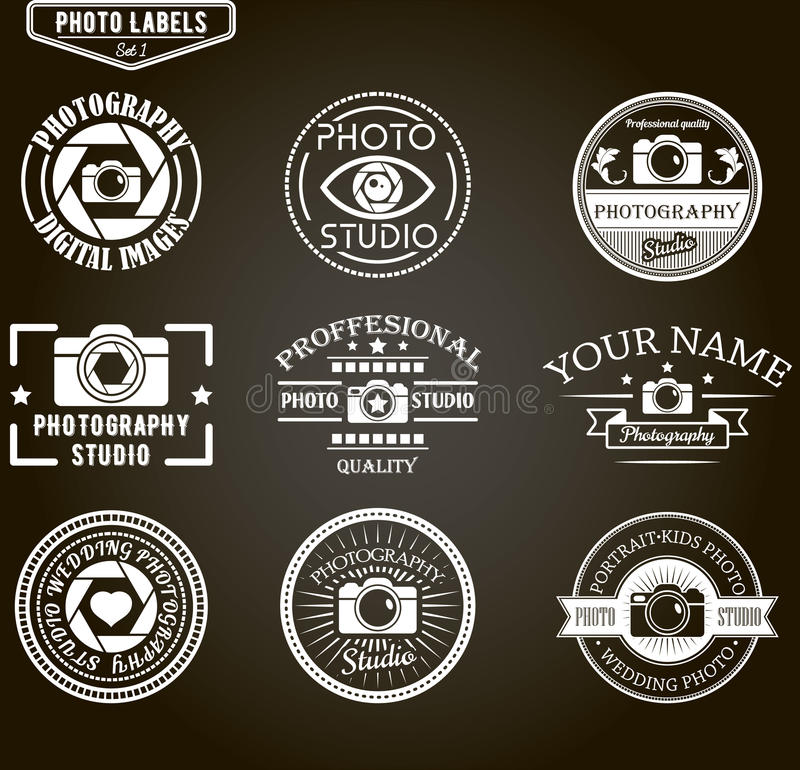 Free Vector Set Of Photography Logo Templates. Photo Royalty Free Stock Images - 61699439