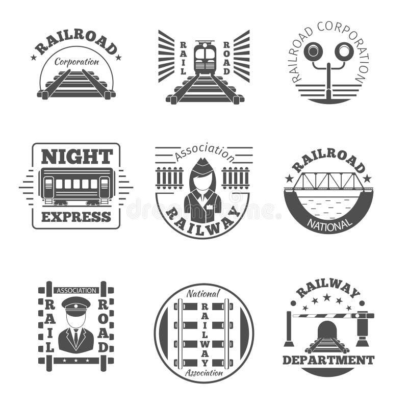 Free Vector Set Of Railway Emblem. Railroad Labels Or Stock Photo - 58460350