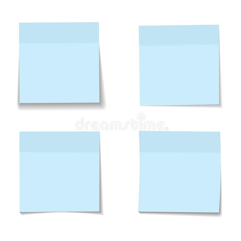 Free Vector Set Of Realistic Paper Blue Memo Sheets Royalty Free Stock Photo - 123155685