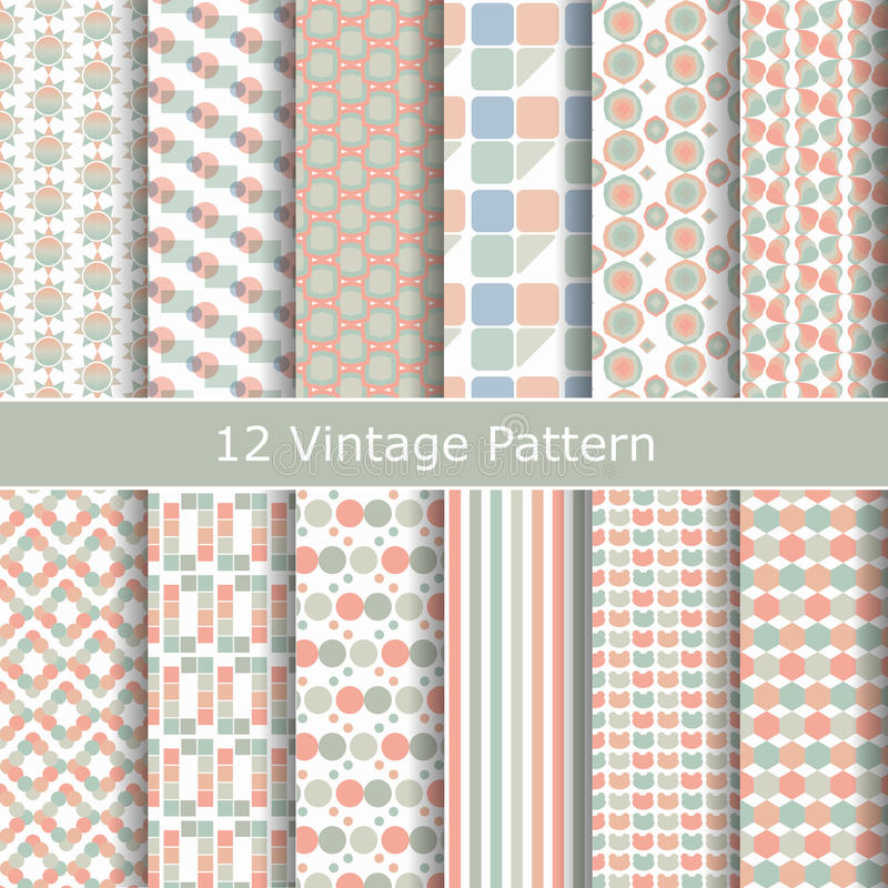 Free Vector Set Of Seamless Vintage Patterns. Stock Photos - 42164743