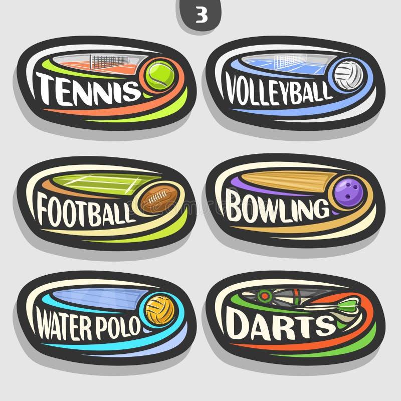 Free Vector Set Of Sport Logos Royalty Free Stock Image - 102805046