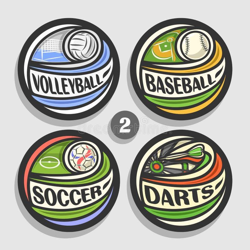 Free Vector Set Of Sport Logos Royalty Free Stock Photo - 102806875