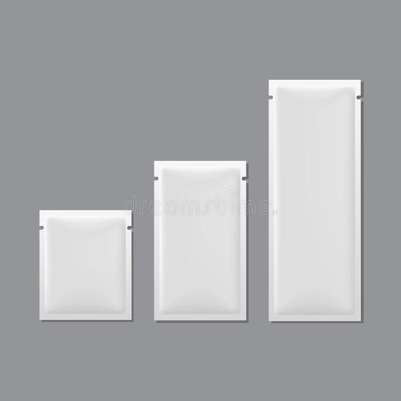 Free Vector Set Of White Blank Sachet Packaging Royalty Free Stock Photo - 33951325