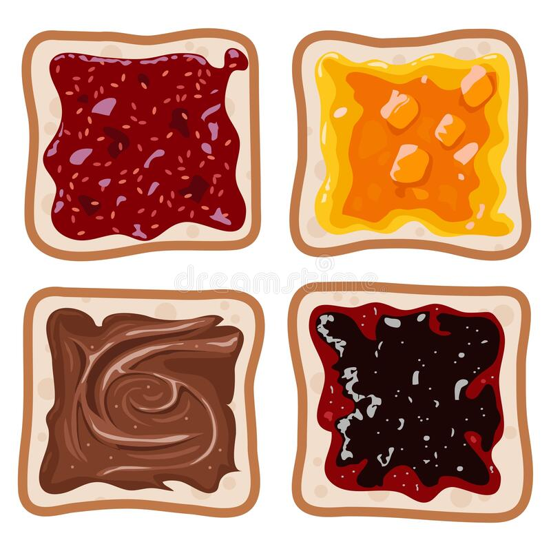 Free Vector Set Of White Toast Bread Slices Royalty Free Stock Image - 183091496