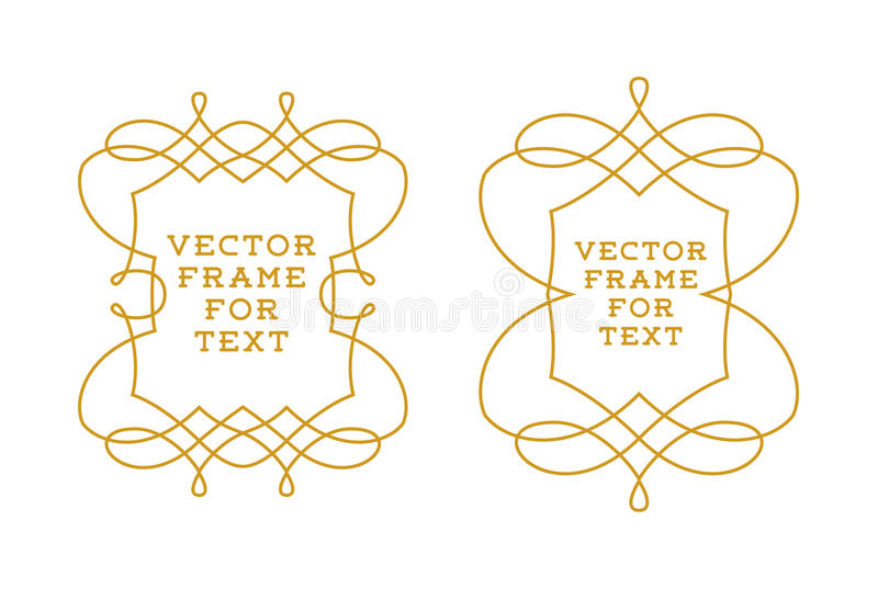Vector set of outline emblems and badges. Abstract hipster logo templates Elegant lineart logo design elements, vector illustration vector illustration