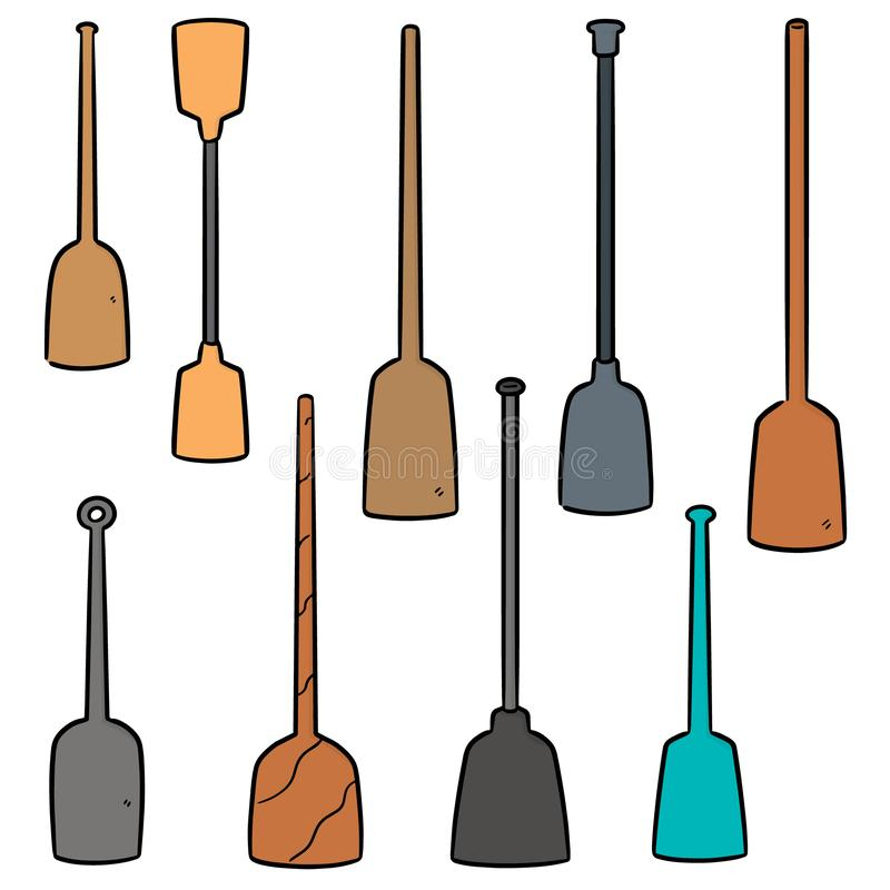 Vector set of paddle. Hand drawn cartoon, doodle illustration vector illustration