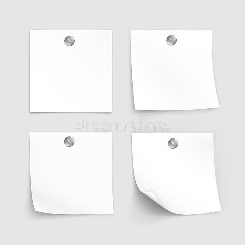 Vector Set of Paper Sticker Sticky Note Post Memo Label royalty free illustration