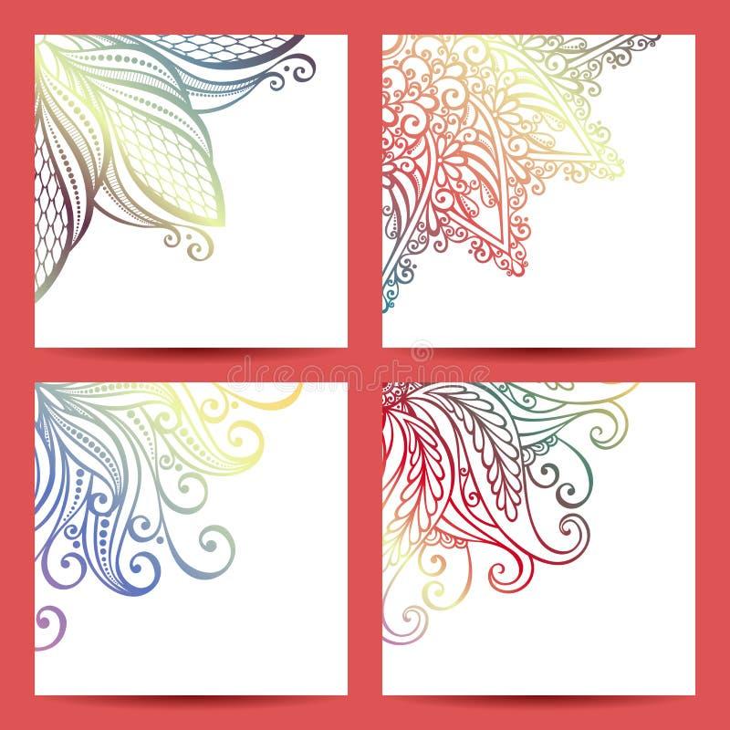 Vector Set of Patterned Banner stock illustration