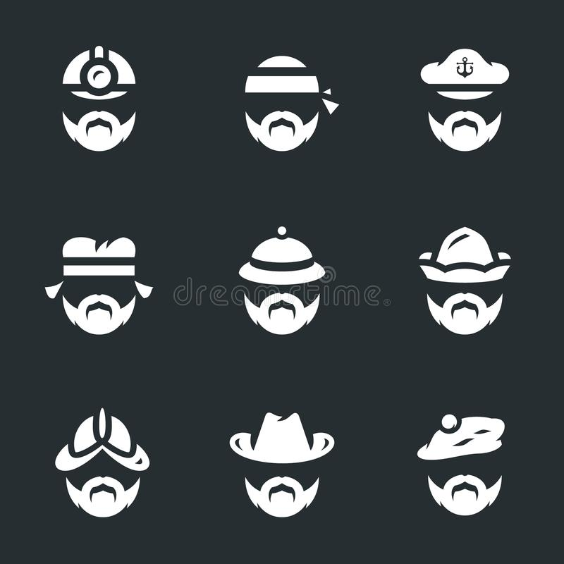 Vector Set of People Icons. royalty free illustration