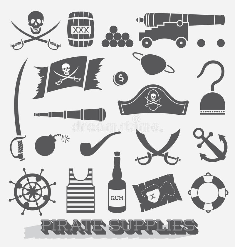 Vector Set: Pirate Supply Icons stock images