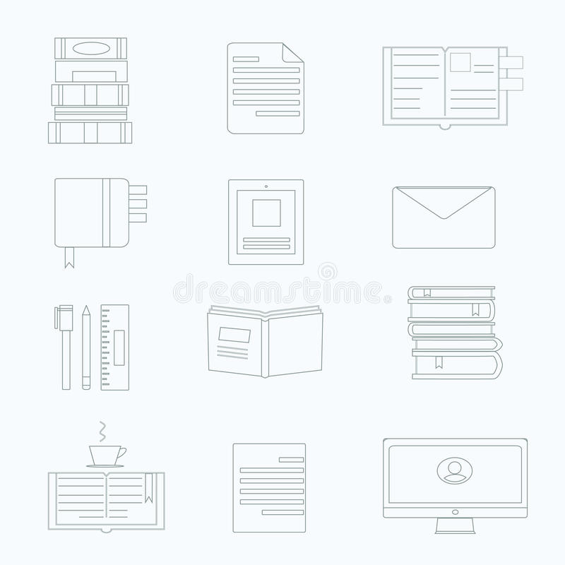 Vector set of productivity icon vector illustration