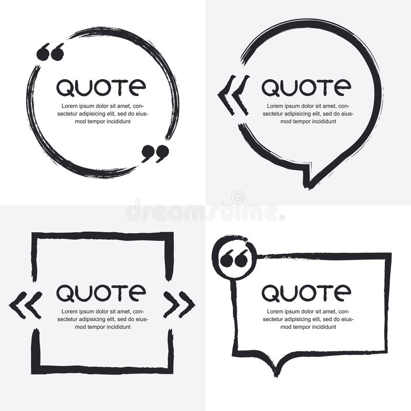 vector set of quote forms template stock vector illustration of