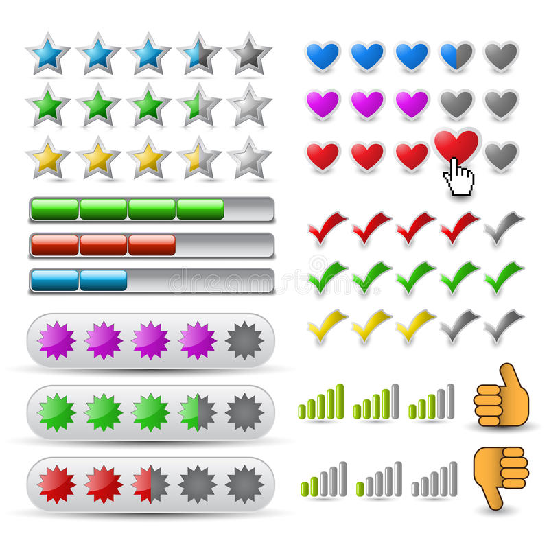 Download Vector set rating icon stock vector. Image of interface - 26967083