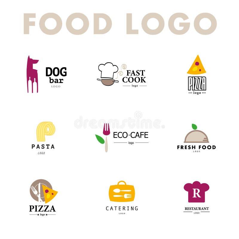 Vector set of restaurant logo design templates stock