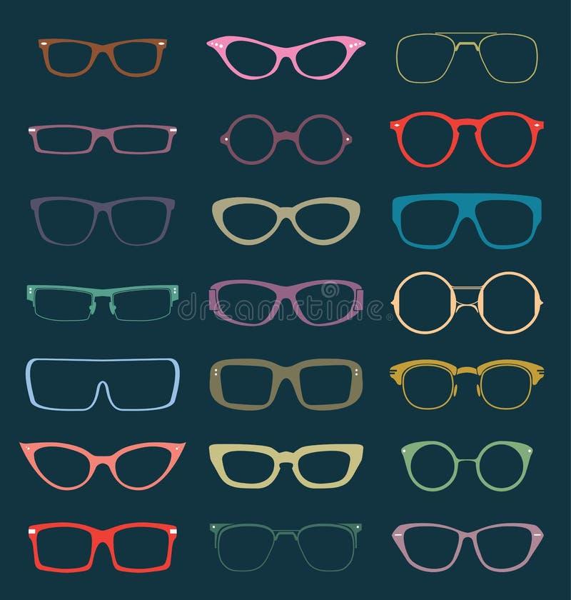 Free Vector Set: Retro Glasses Silhouettes In Color Stock Image - 31493401