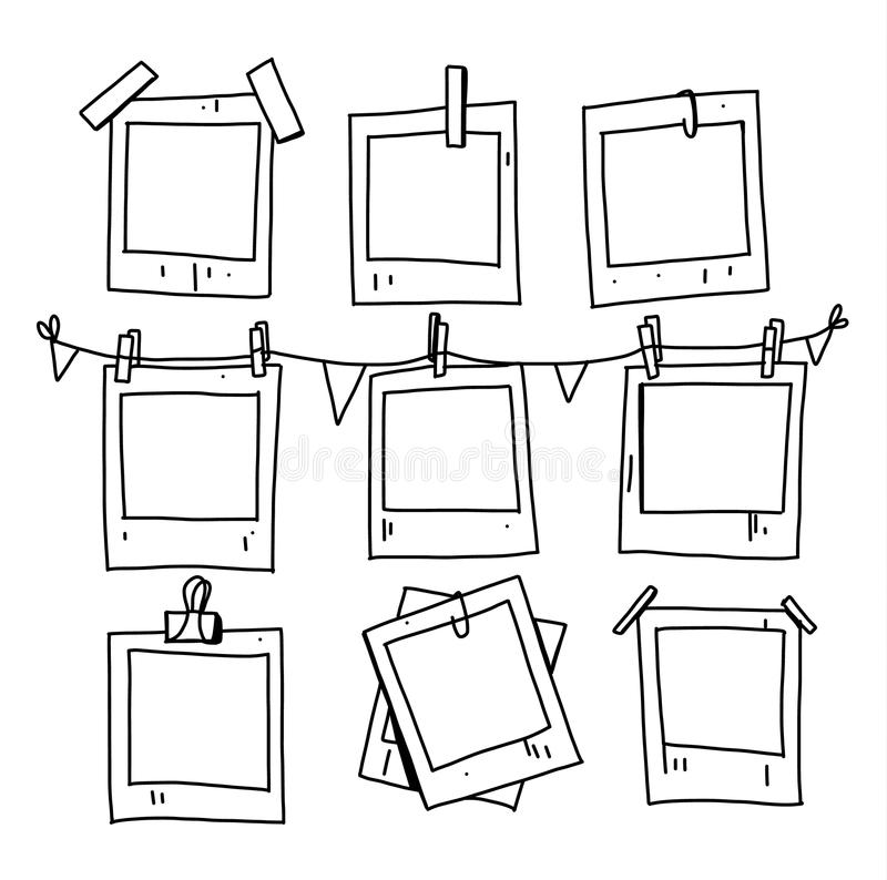 A Pile Of Picture Frames Stock Illustration Illustration