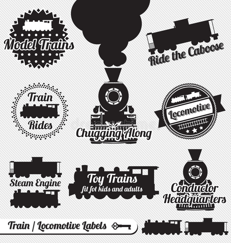 Free Vector Set: Retro Train Labels And Stickers Stock Image - 27500521