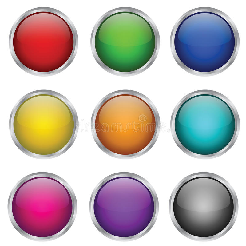 Download Vector Set Of Round Glass Buttons Stock Photography - Image: 24519892