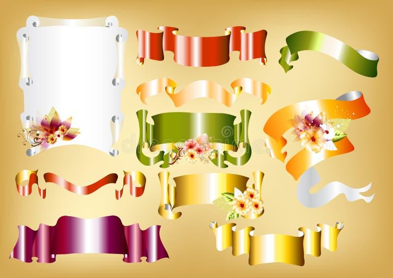 Download Vector Set Of Scroll Banners For Design Stock Vector - Illustration of festive, golden: 25486681