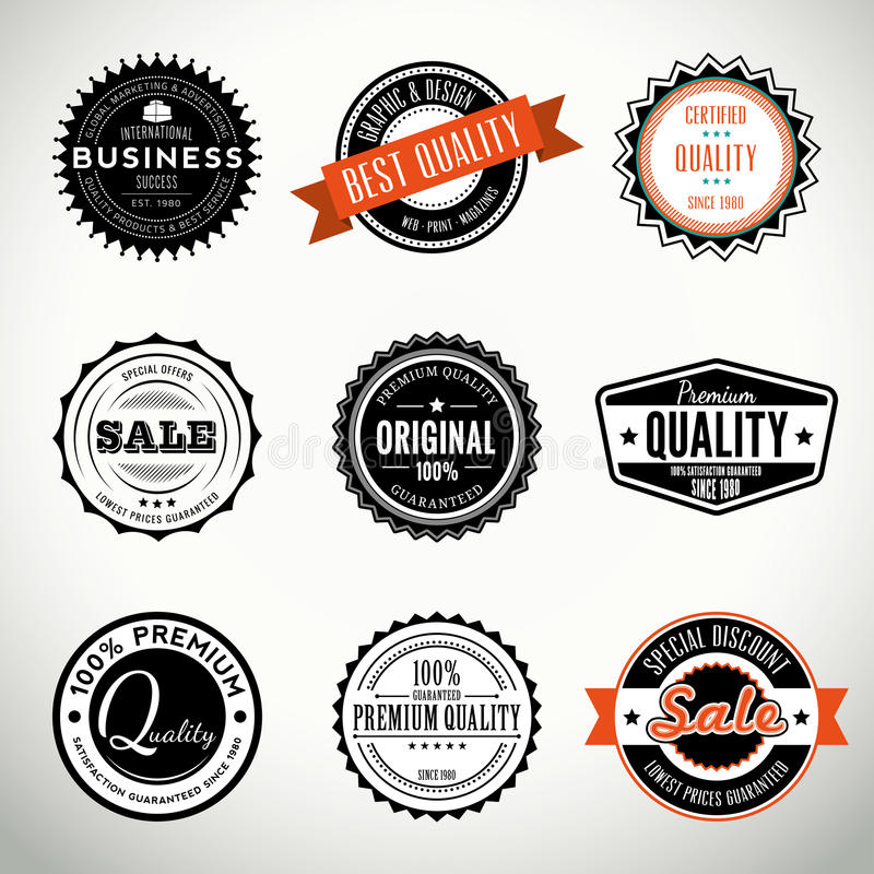 Download vector set with seals and stamps stock vector illustration of illustration certificate