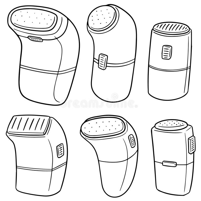 Vector set of shaver royalty free illustration