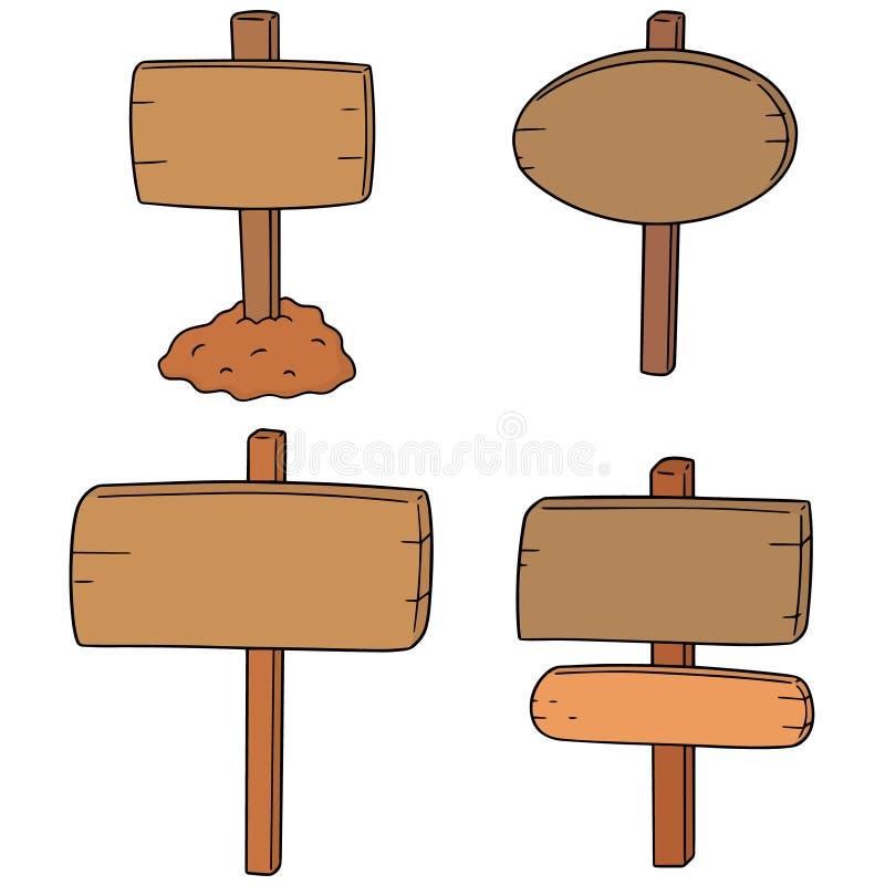 Vector set of signboard. Hand drawn cartoon, doodle illustration stock illustration