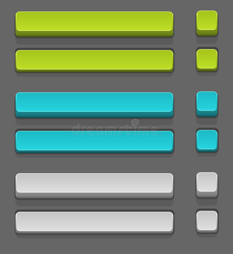 Vector set of simple buttons vector illustration