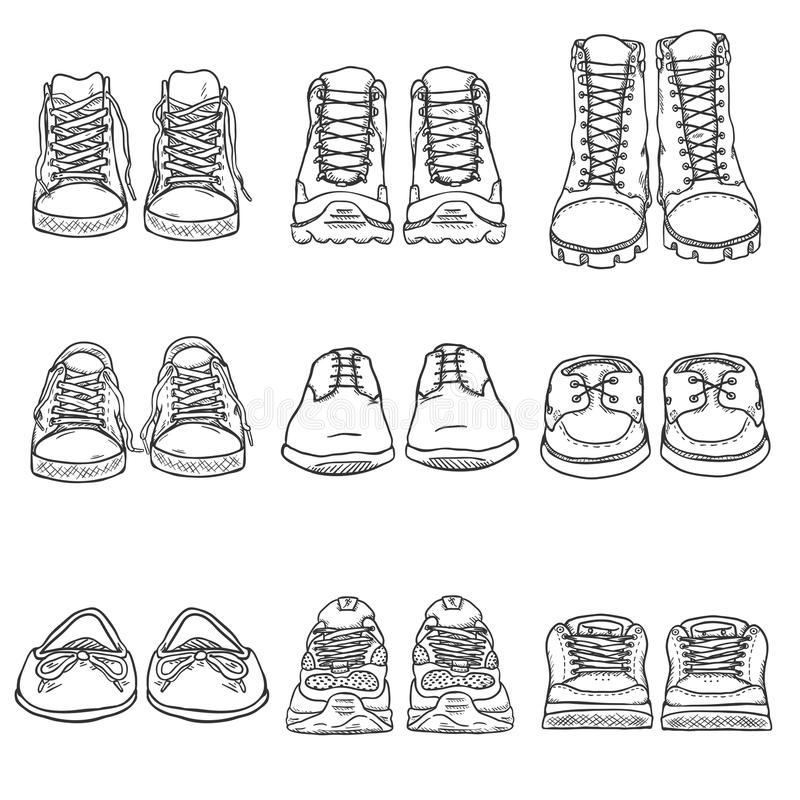 how to draw a set of foot prints in sketches