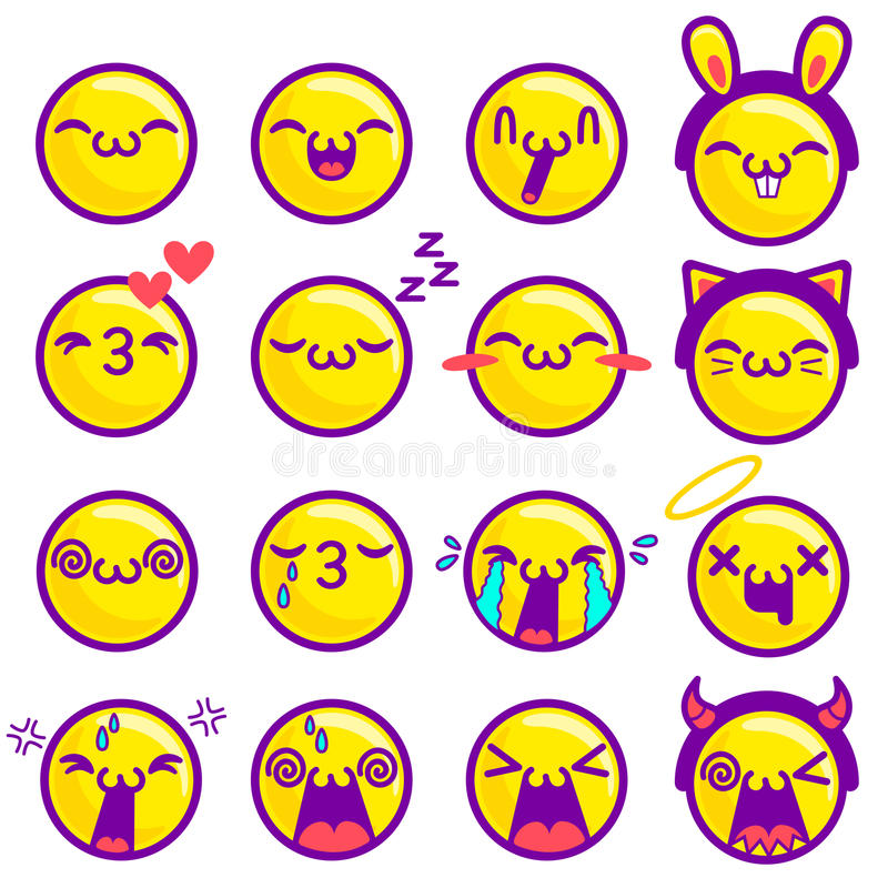 Vector set smiles vector illustration