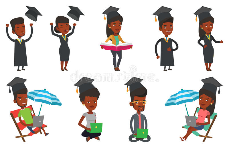 Download Vector Set Of Student Characters. Stock Vector - Image: 83714067