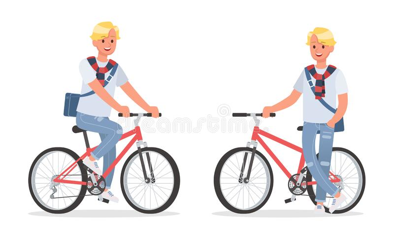 Vector set of students young man character design. no4. Vector set of students young man character design stock illustration