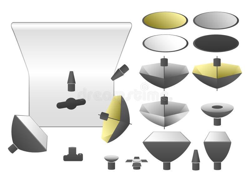 Vector set of studio equipment vector illustration