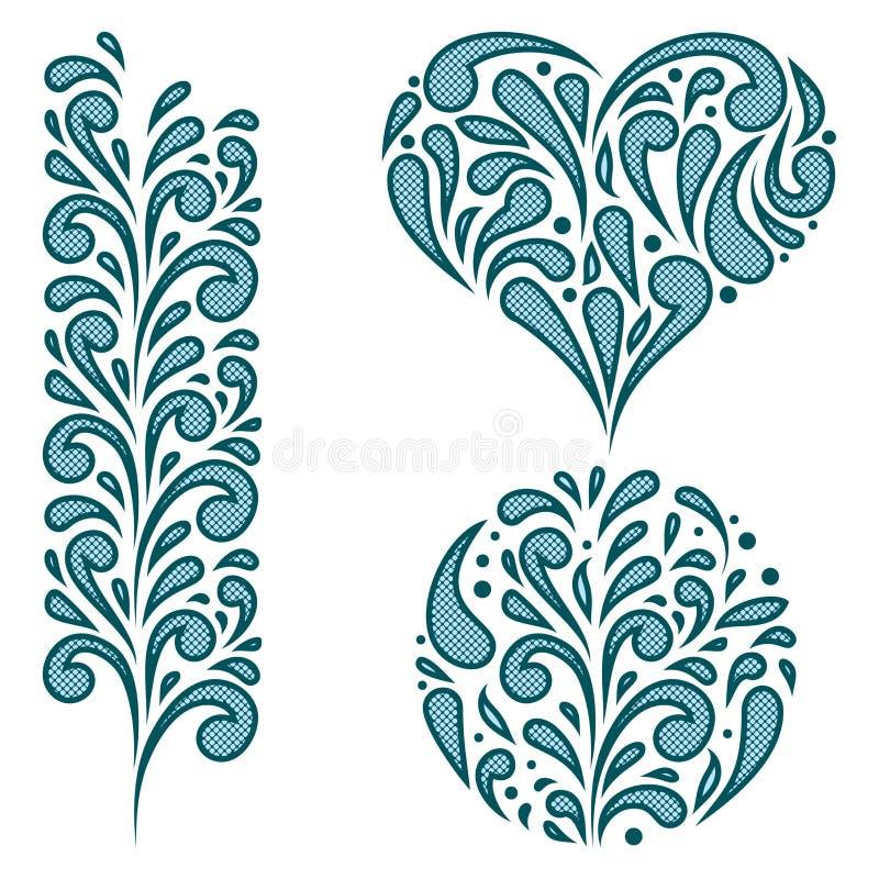 Download Vector Set Of Swirling Decorative Elements Stock Vector - Illustration: 26700602