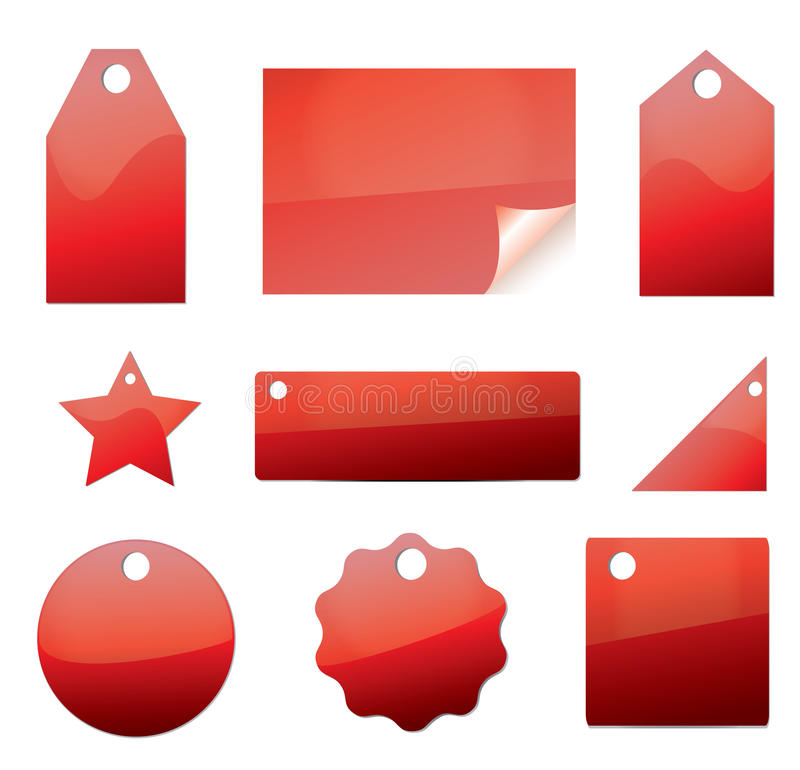 Vector set of tags royalty free illustration