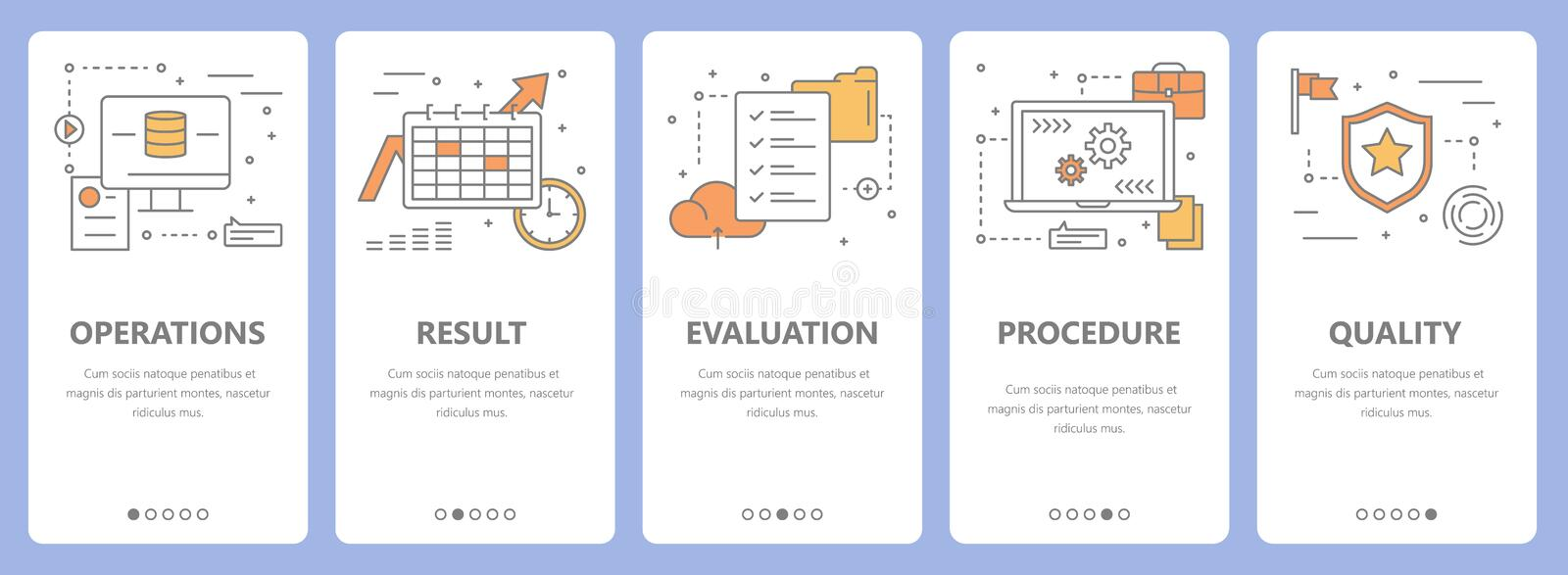 Vector set of thin line flat design audit concept banners vector illustration