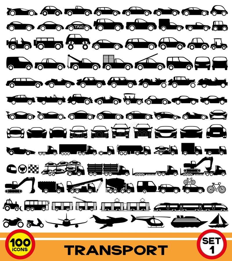 Vector set. Transportation icons. stock illustration