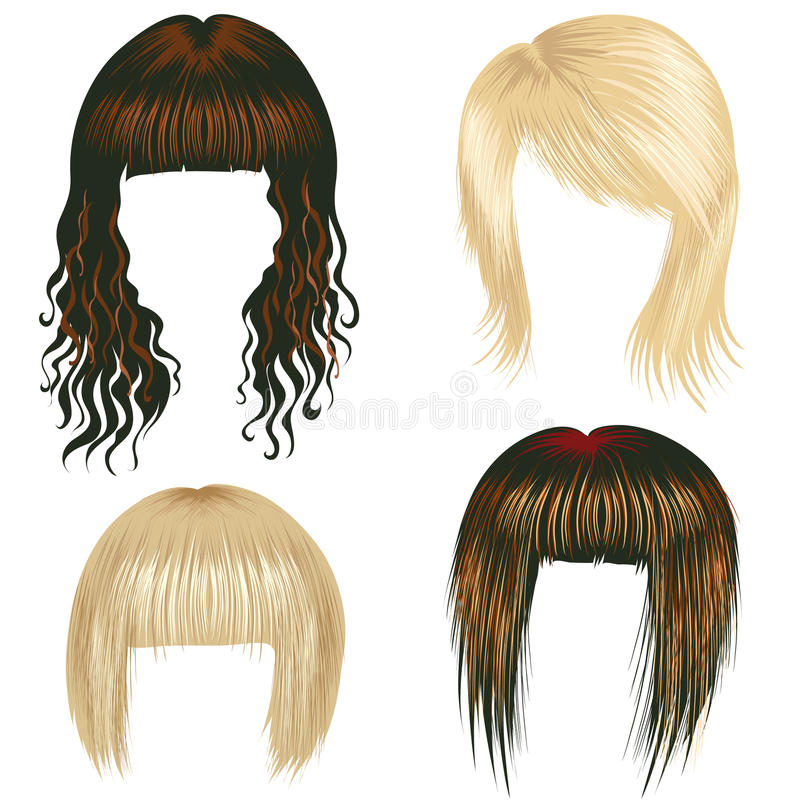 Download Vector Set Of Trendy Hair Styling For Woman Stock Vector - Image: 11802248
