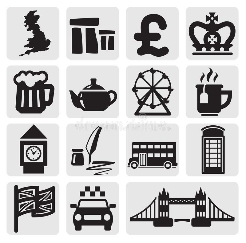 Vector Set Of Uk Royalty Free Stock Photography