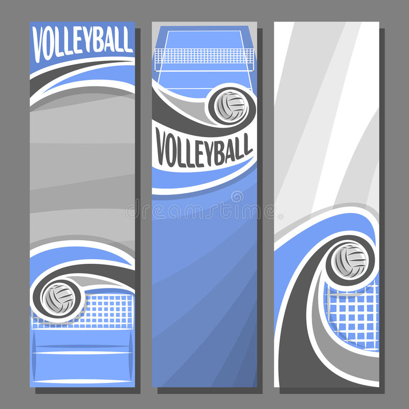 Free Vector Set Vertical Banners For Volleyball Stock Image - 87810801