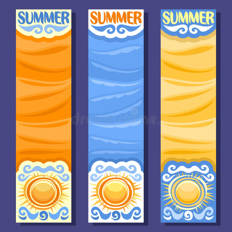 Vector set vertical banners for Summer season vector illustration