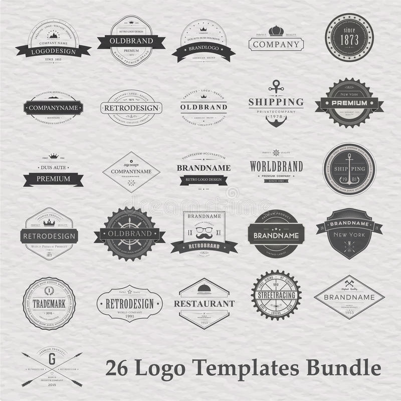 Vector set of vintage camping logo vector illustration