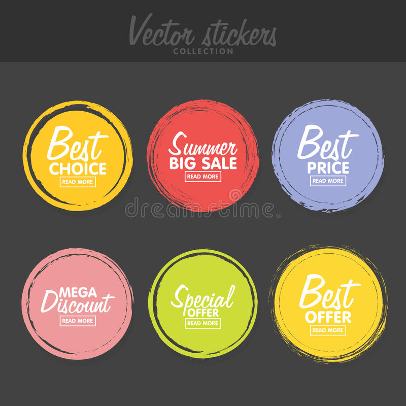 Vector set of vintage colorful labels for greetings and promotion download vector set of vintage colorful labels for greetings and promotion stock vector illustration m4hsunfo
