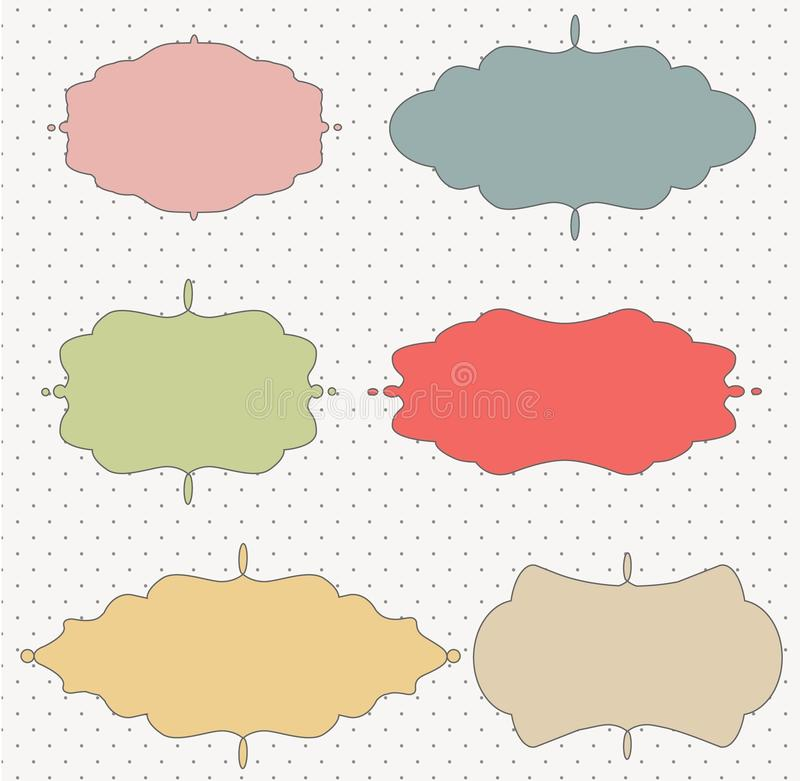Download Vector Set Of Vintage Frames Stock Vector - Image: 16105878