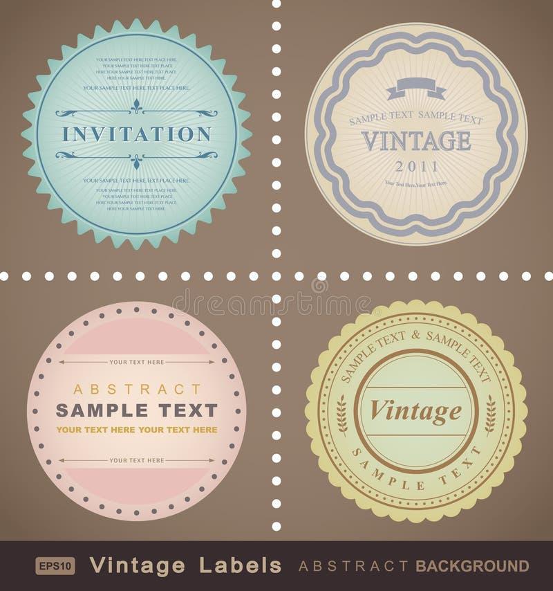 Download Vector set: vintage labels stock vector. Image of illustration - 20077644