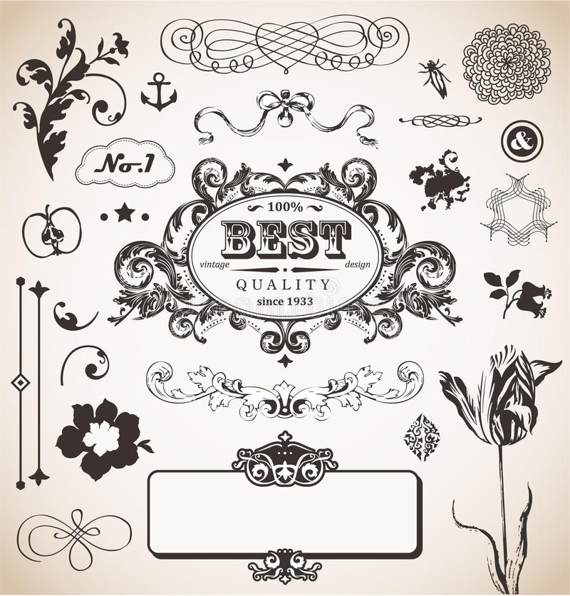 Download Vector Set In Vintage Style For You Stock Vector - Image: 26947573