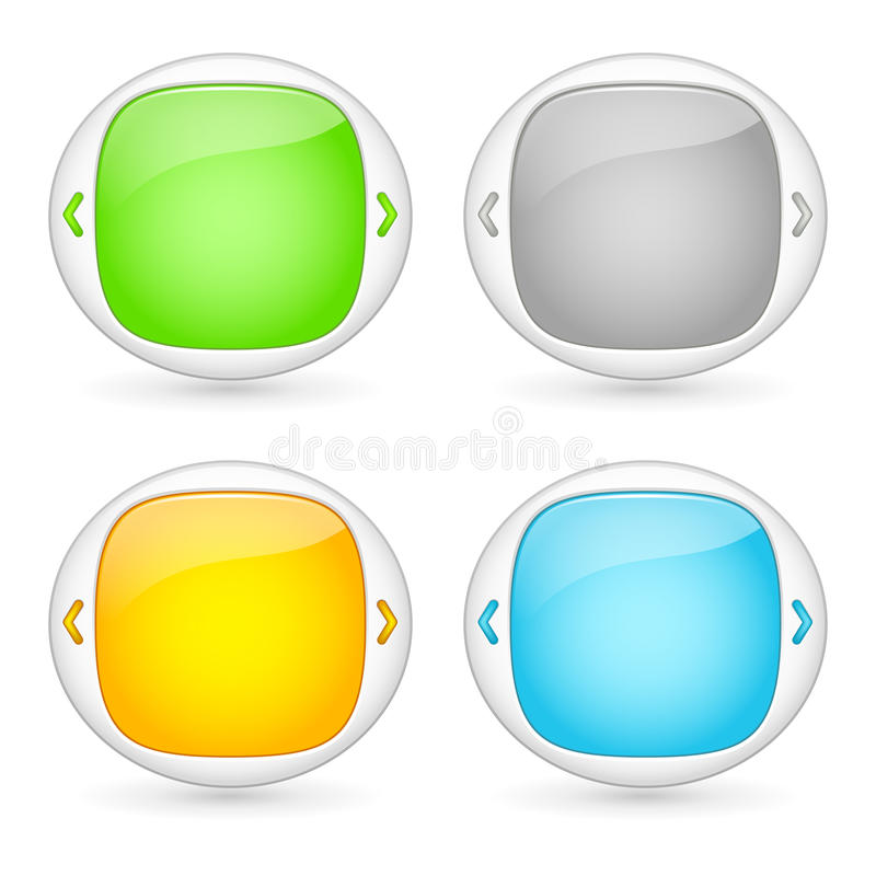 Vector set of web interface elements. Vector set of web interface templates royalty free illustration