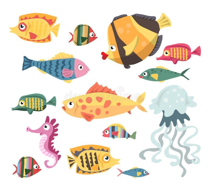 Free Vector Set With Underwater Ocean Fish Stock Photo - 181930740