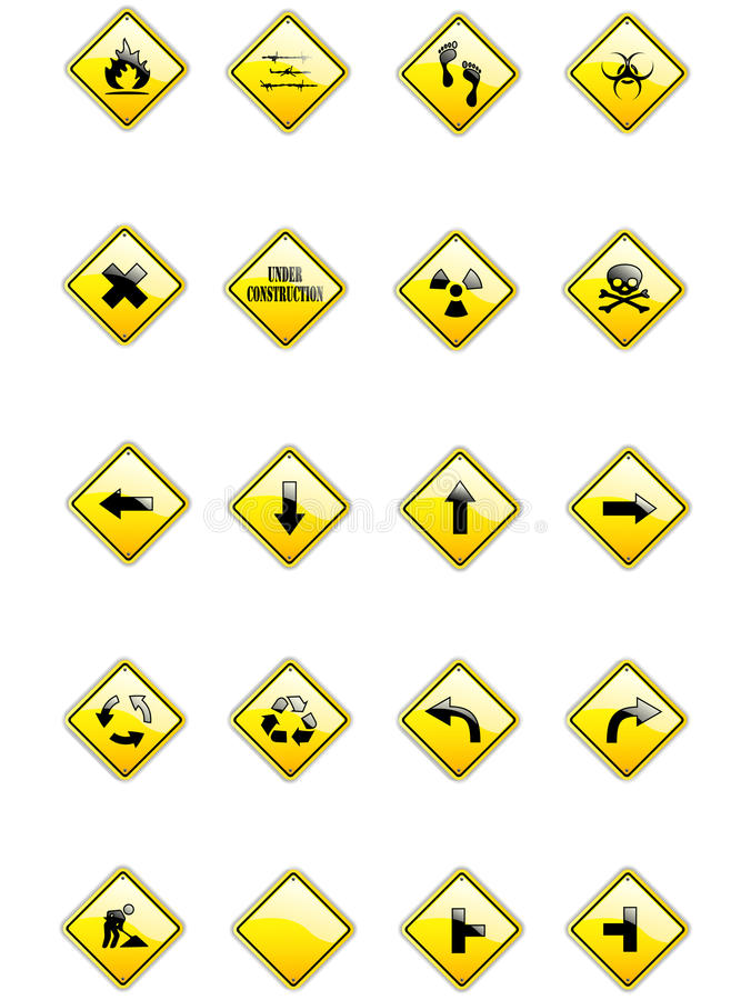 Download Vector set of yellow signs stock vector. Illustration of illustration - 11769861