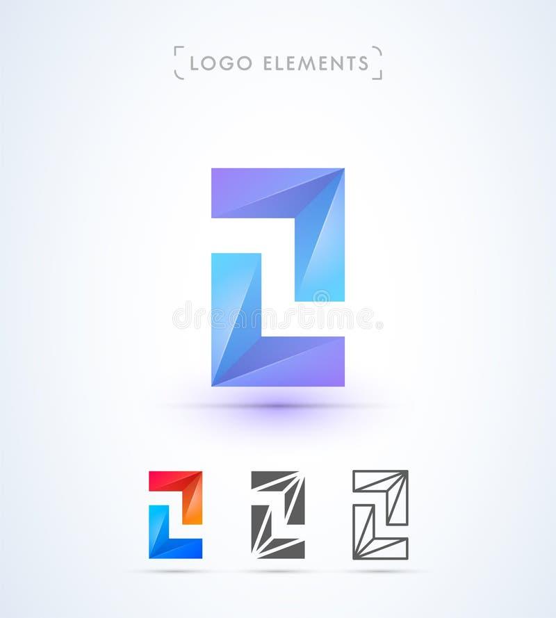 Vector setas e o molde abstratos do logotipo da letra Z Aplicação mim ilustração stock