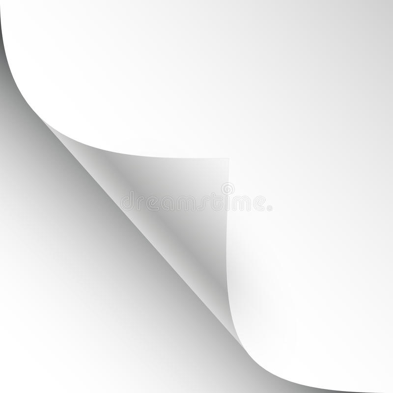 Free Vector Sheet Of Paper With Page Curl And Shadow Stock Photos - 41762403